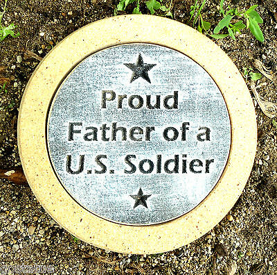 Us Soldier Stepping Stone Plastic Concrete Plaster Mold Mould