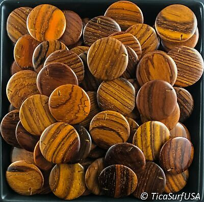 Flat Round Wood Beads Unstained Polished Lacquered Handcrafted FR15A Rosewood -  ()