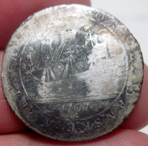 1767 (DANISH WEST INDIES) 12 SKILLING (SILVER) ---One year type --very scarce--