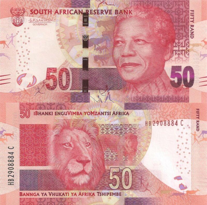 South Africa 50 Rand (ND/2015) - Mandela/Lion/p140b UNC