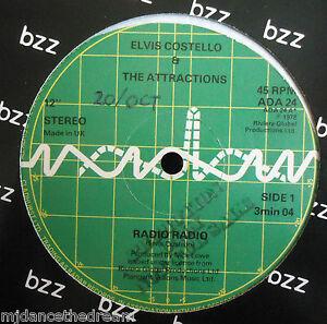 ELVIS-COSTELLO-amp-THE-ATTRACTIONS-Radio-Radio-12-034-Single-PROMO