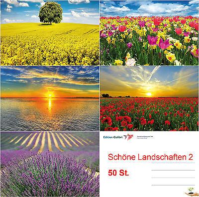 SCHÖNE LANDSCHAFTEN 2 Postkarten-Set 50 St. Ansichtskarten für Postcrossing etc.