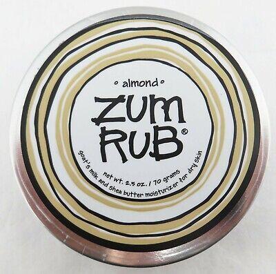 Indigo Wild ZUM RUB Almond Goat's Milk & Shea Butter Moisturizer 2.5 oz Sealed (Wild Rub)