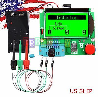 Green 12864 Mega328 ESR Transistor Resistor Diode Capacitor Mosfet Tester w hook