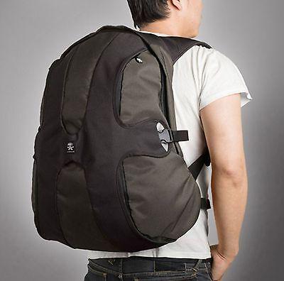 Crumpler BB-14A The Beer Back 17 inch Laptop Backpack(Black/Gunmetal)