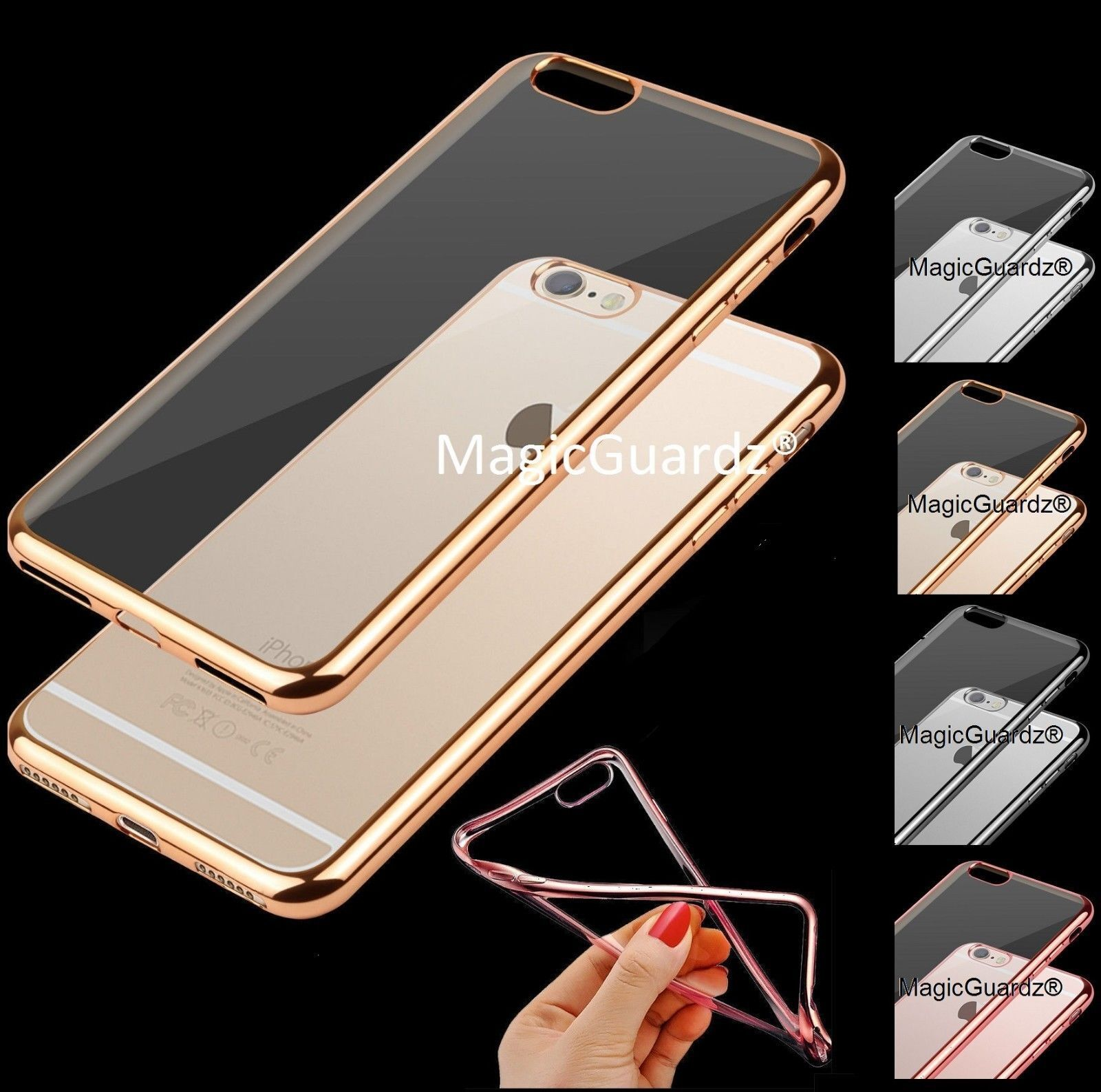 For Apple iPhone 7 / 7 Plus Case Silicone Clear Cover Bumper