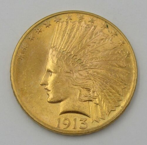 1913 $10 American Gold Eagle Indian Head Coin