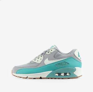 Nike-Air-Max-90-Esencial-mujer-Zapatos-en-lobo-gris-Verde