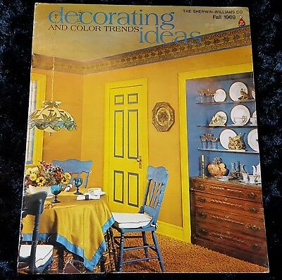 MCM Vtg FALL1969 DECORATING IDEAS & COLOR TRENDS Sherwin Williams BIG BOOKLET - 60's Decorations Ideas
