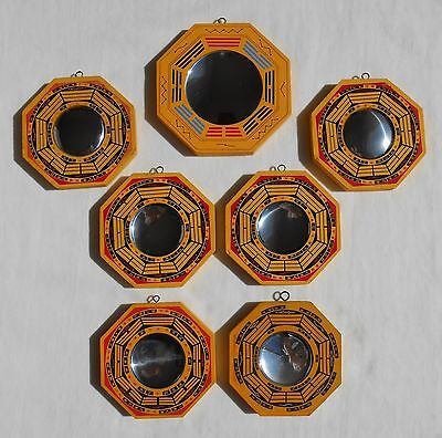 "H15 Feng Shui Bagua Mirrors 4.5"" and 5.25"" - concave and convex mirrors"