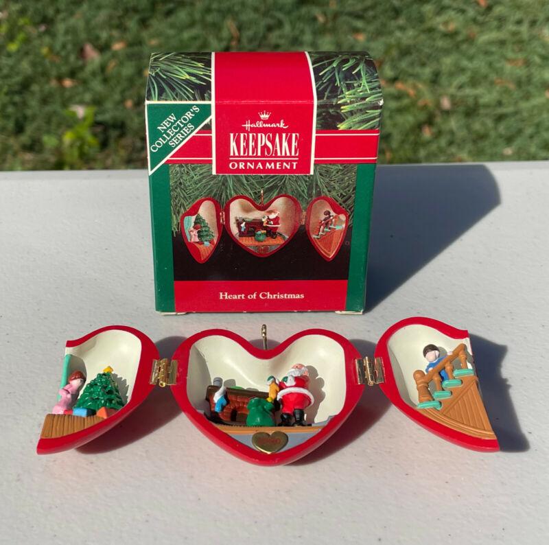 1990 Hallmark Keepsake Ornament Heart Of Christmas 1st In Series Red Locket NEW
