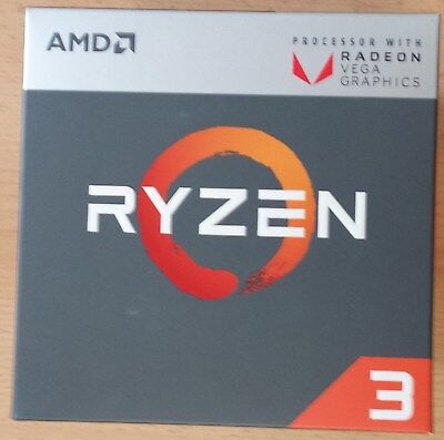 "CPU AMD Ryzen 3 2200G ""Raven Ridge"" So. AM4 Boxed (4x 3,5 GHz)"