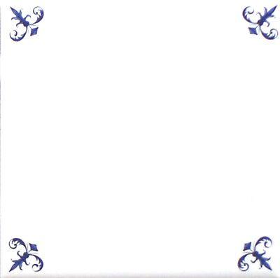 - Elegant Blue Delft Design Ceramic Tile Center Inlay 6