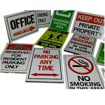 signs stickers decals