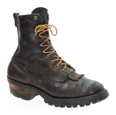 Whites HATHORN Boots USA 7 C Logger Lace Up Packer EXPLORER Smoke Jumper Boots
