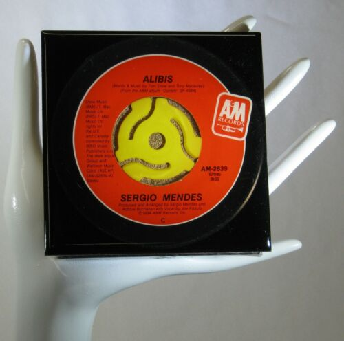 Sergio Mendes - Music Drink Coaster Made with Original 45 rpm Record