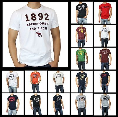 New Abercrombie Fitch by Hollister Men APPLIQUE LOGO GRAPHIC TEE Muscle Size