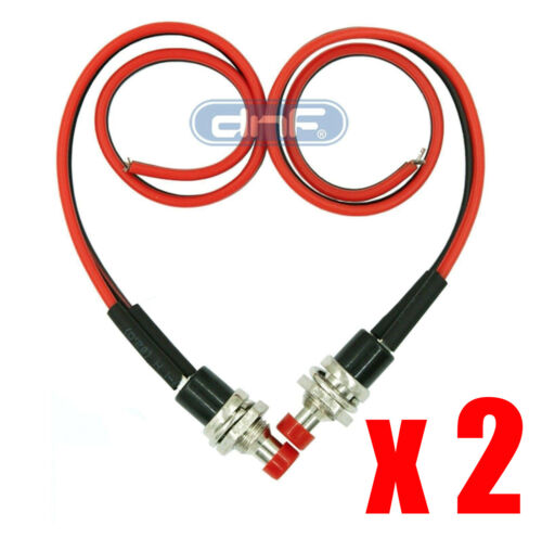2 Pack Mini Push Button Pre-Wired Momentary N/O OFF-ON Switch Plug 12V 3AMP SPST
