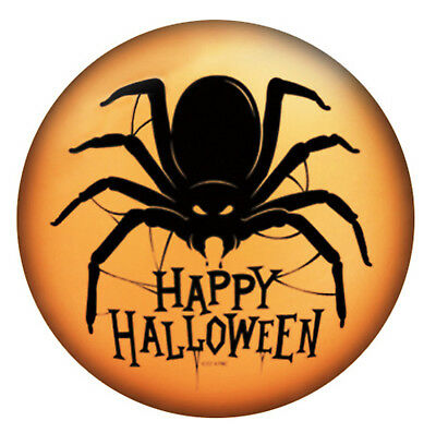 Happy Halloween Black Orange Spider Enamel 20mm Snap Charm for Ginger Snaps
