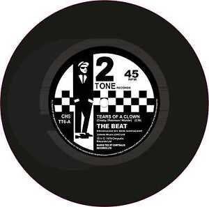 SKA-2tone-STAMPATA-cur-ESTERNO-VINILE-7-034-178mm-DECAL-IL-BEAT-Tears-of-a-Clown-2