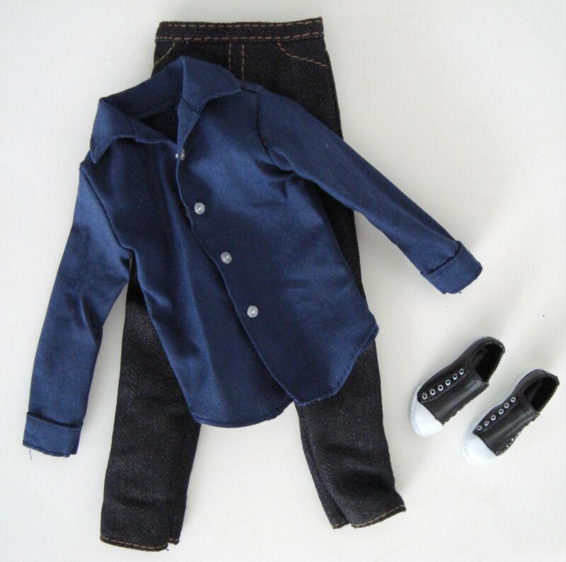 BARBIE/ KEN Clothes/Fashion Blue Shirt W/ Jeans & Converse Style Shoes NEW!