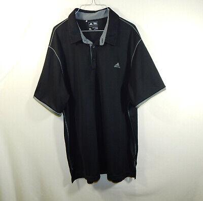 ADIDAS Mens Short Sleeve Golf Clothing Polo Black Shirt Size EXTRA LARGE XL