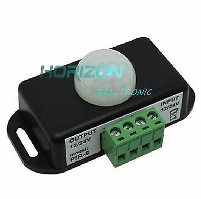 Automatic Dc 12v-24v 8a Infrared Pir Motion Sensor Switch For Led Light Stylish