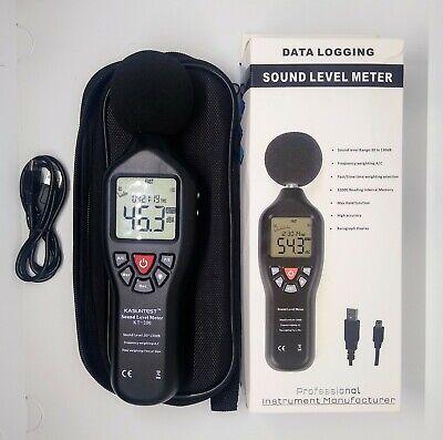 Professional Sound Level Meter Data Logger Noise Audio Tester 30db-130db Us Ship