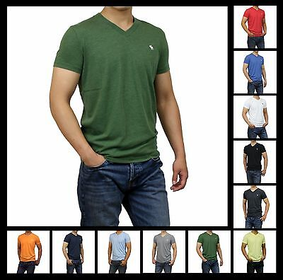 New Abercrombie Fitch A F by Hollister Men Muscle Fit V Neck Tee Shirt Sizes