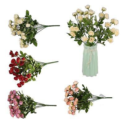27 Rosen Bund 35 cm Kunstblumen Rose Blumen Blumenstrauß Seidenblumen Hochzeit (Strauß Seidenblumen)