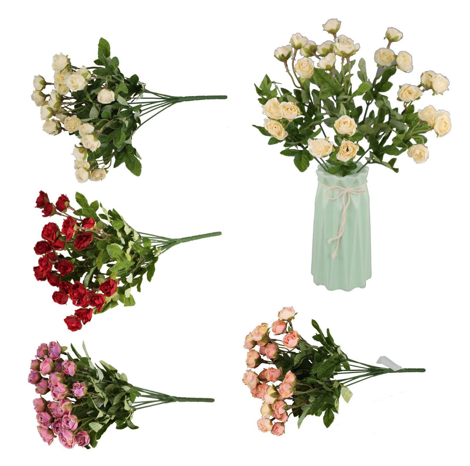 27 Rosen Bund 35 cm Kunstblumen Rose Blumen Blumenstrauß Seidenblumen Hochzeit