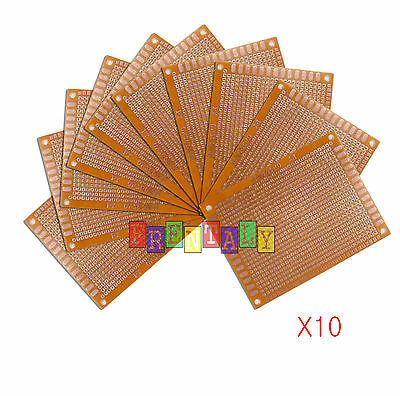 10pcs 7 X 9 Cm Diy Prototype Matrix Paper Pcb Universal Board Prototyping Kitb
