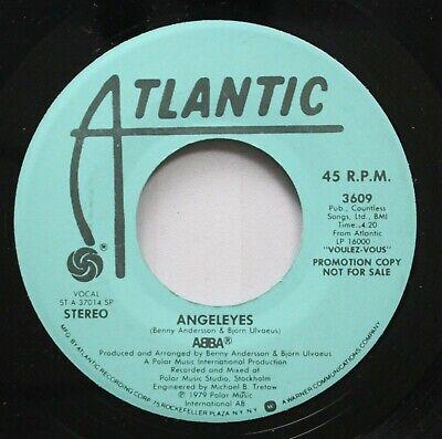 Rock Promo 45 Abba - Angeleyes / Angeleyes On Atlantic