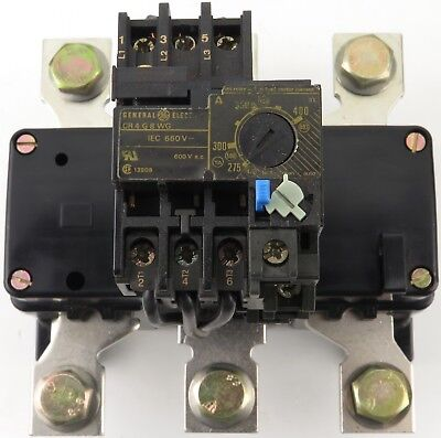 General Electric Cr4g8wg Thermal Overload Relay 275-400 Amp Range