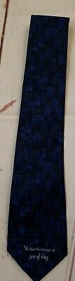 Treasure In Jars Of Clay Tie Blue Black  Steven Harris Bible Verse Necktie](Treasure Bible Verse)