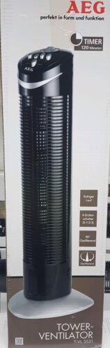 AEG T-VL 5531 Tower-Ventilator, Höhe 75 cm, 3 Laufgeschwindigkeiten, 120 Minuten