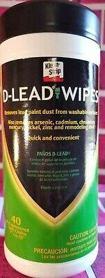 D-LEAD WIPES KLEAN STRIP CLEAN LEAD PAINT ARSENIC ZINC REMODEL NICKEL DUST SOFT