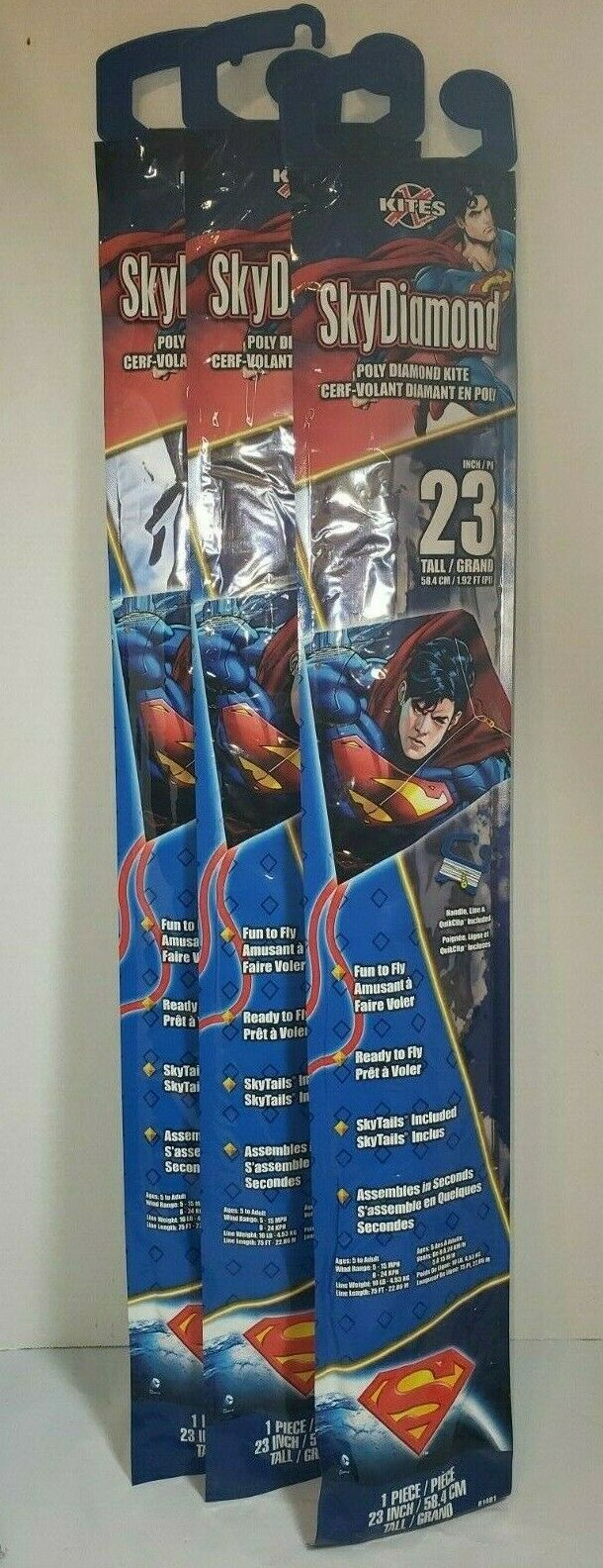 lot of 3 superman 23 inch wide