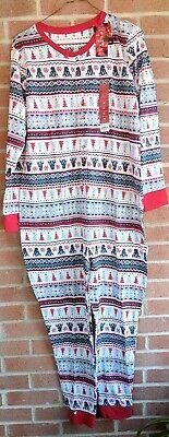 Jammies For Your Families Womens One Pc Pajamas Sz L Christmas Polar - Xmas Pjs For Family