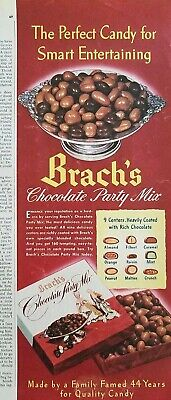 1948 Brachs chocolate party mix candy smart entertaining ad ()