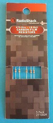 Radioshack 470 Ohm 18 Watt Carbon-film Resistors 5 Pk. 2710009 Free Shipping