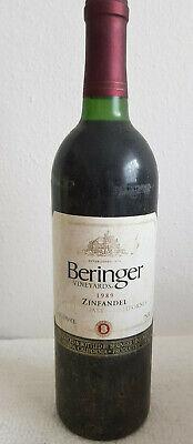 Rotwein USA BERINGER ZINFANDEL, Jahrgang 1989