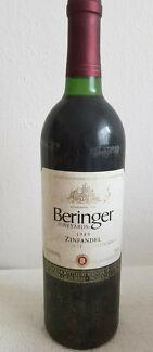 Rotwein-USA-BERINGER-ZINFANDEL-Jahrgang-1989