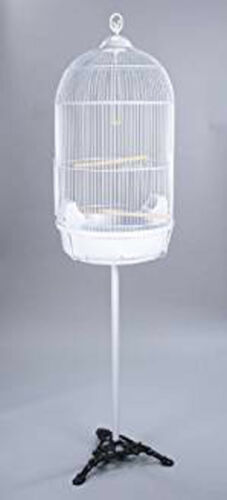 "64"" Large Round Dome Bird Cage Finch Canary Cockatiel Parakeet Bird Cage Stand"