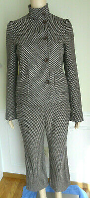 French Connection Cropped Pant Wool Suit Women's Size 6