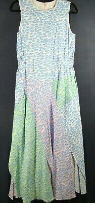 NEW Julien David Wave Print Sheath Dress in Blue - Size M #D2314