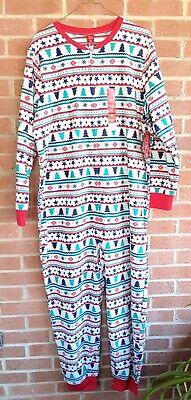 Jammies For Your Families Womens One Pc Pajamas Sz 2X XXL Christmas Tree - Xmas Pjs For Family