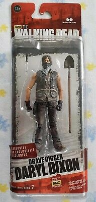 "Daryl Dixon Grave Digger McFarlane Toys Series 7 AMC Walking Dead 5"" New Figure"