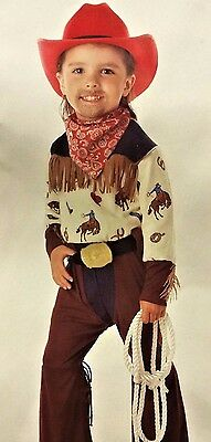 HOWDY PARTNER COWBOY WESTERN CHILD HALLOWEEN COSTUME TODDLER SIZE LARGE 4-6T](Halloween Partner Costumes)