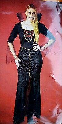 HALLOWEEN FANCY DRESS UP SIZE 8-10 WOMEN'S SORCERESS COUNTESS VAMPIRE - Vampire Dress Up Kostüm